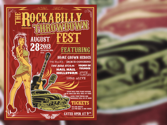 Create an Iconic Rockabilly Poster With Vector Set 22 – Poster preview