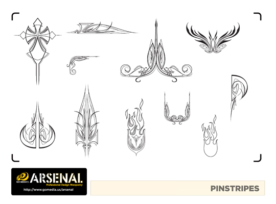 Go Media's Arsenal - Vector set 22 - Pinstripes