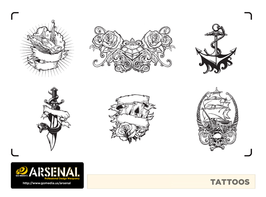 Go Media's Arsenal - Vector set 22 - Tattos