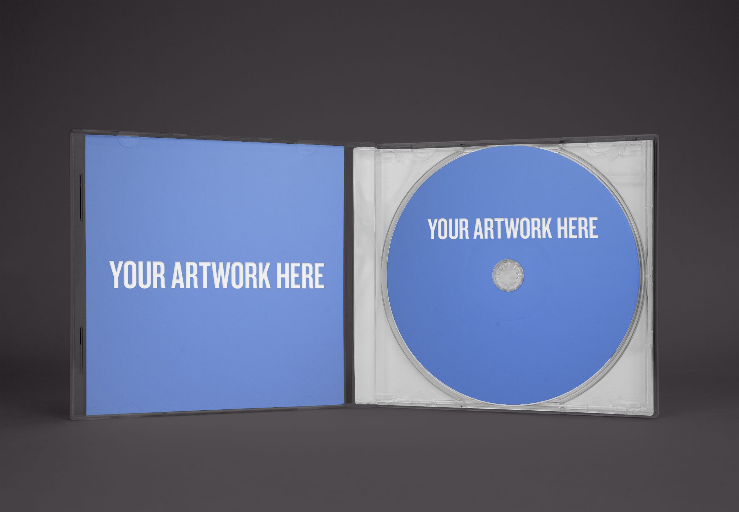 CD case mockup templates v2.0: smart object edition