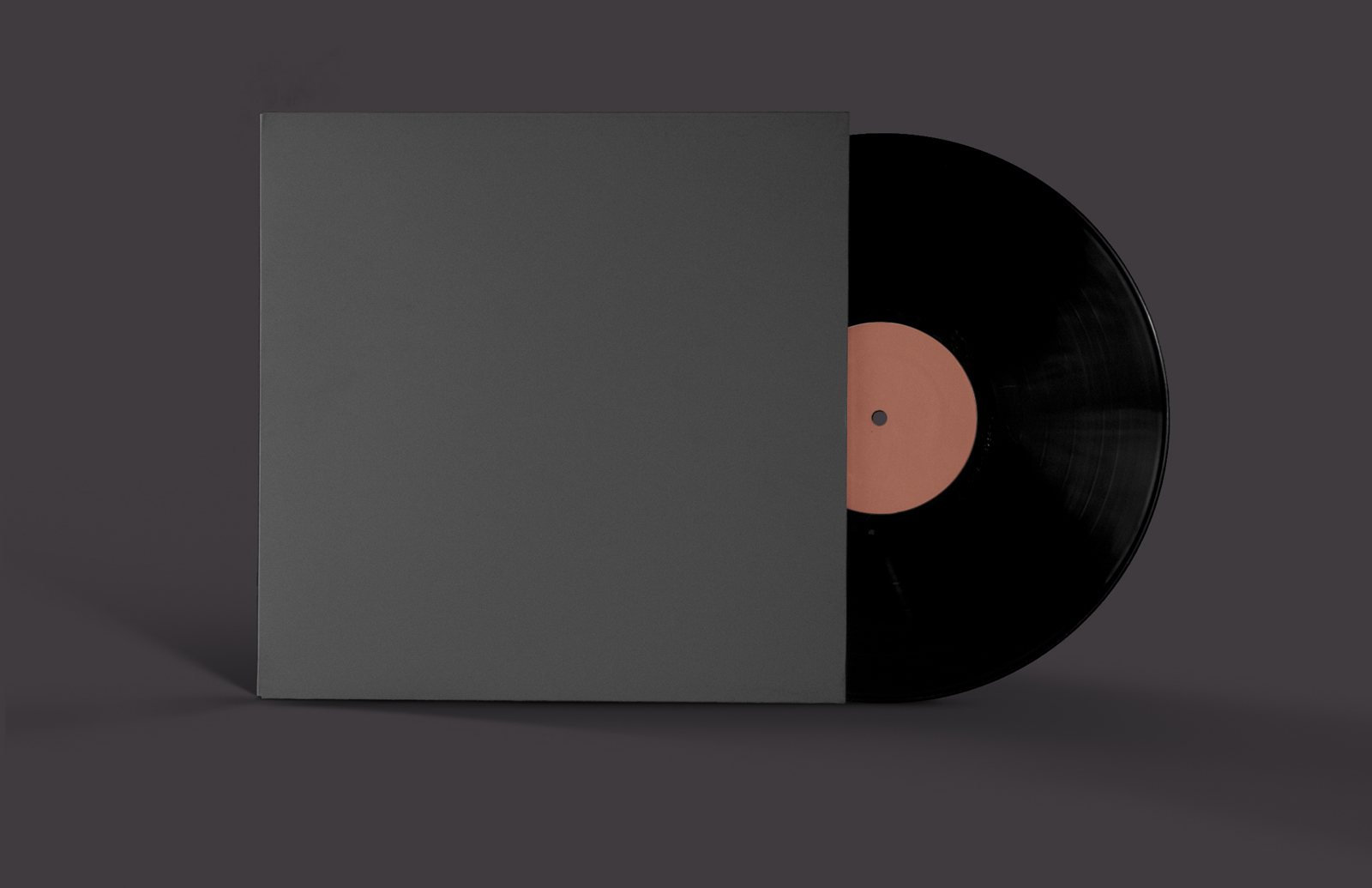 Vinyl Record Cover The vinyl record mockup