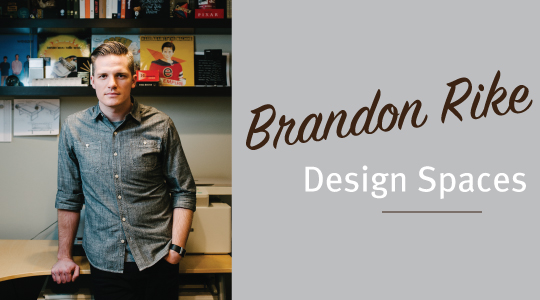 Brandon Rike designs shirt graphics for bands, as well as logos, posters, low-key album art. He makes letters look good.