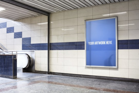 The city mockup templates - Subway station