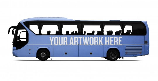 The city mockup templates - Bus