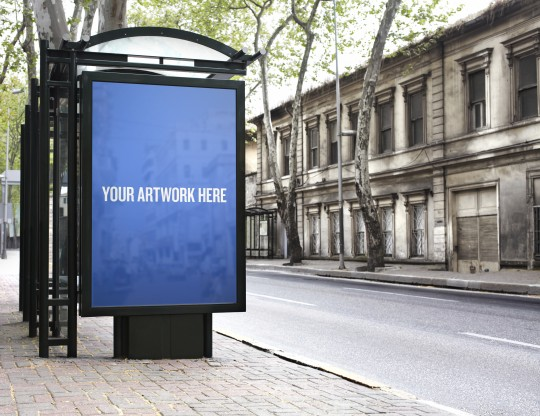 The city mockup templates - Bus stop