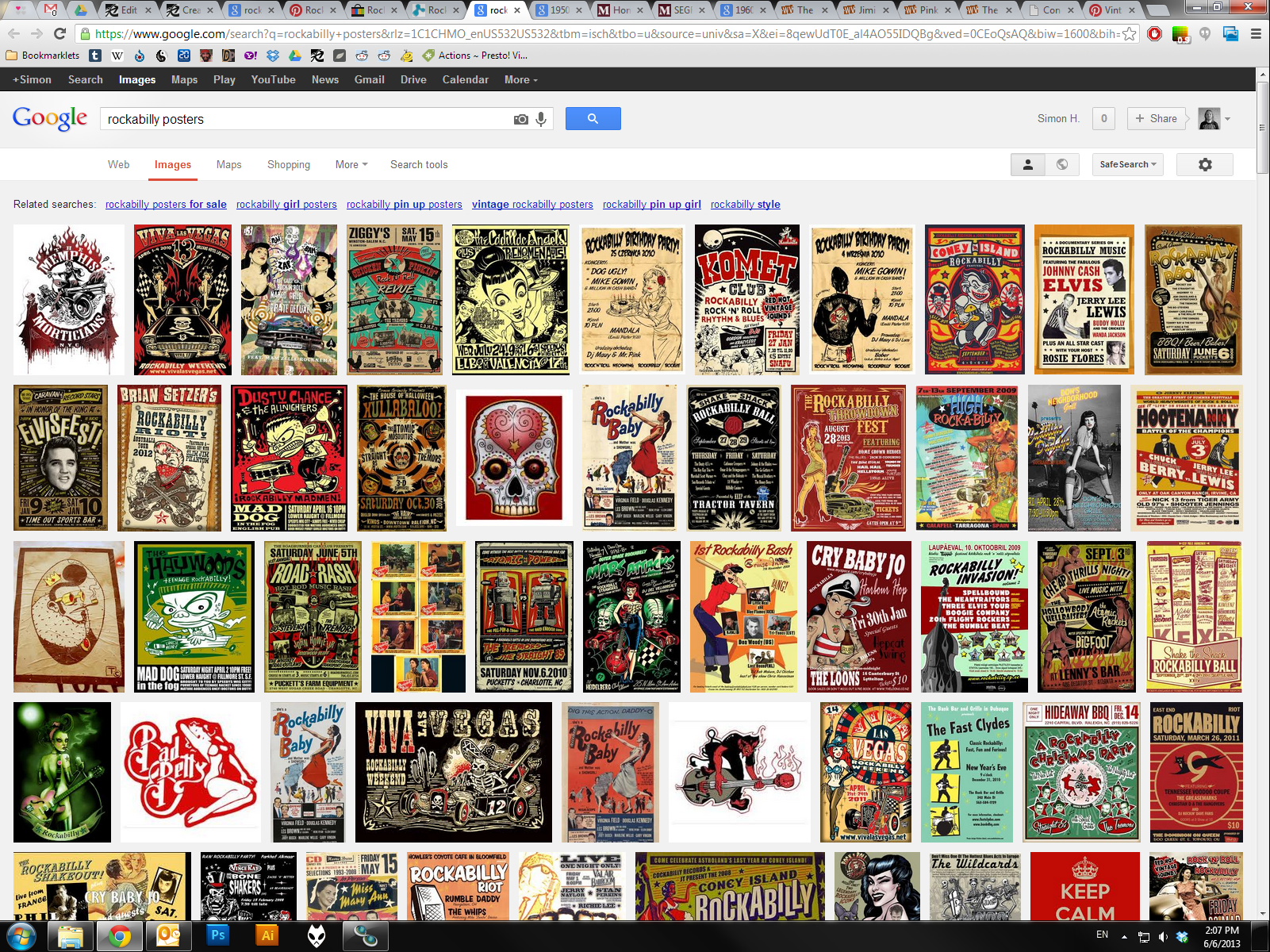 Create a Rockabilly Poster With Vector Set 22 – Part II - Reference research