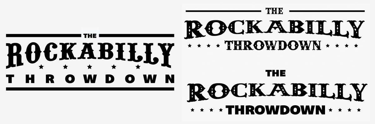 Create an Iconic Rockabilly Poster With Vector Set 22 – Title type options, final three