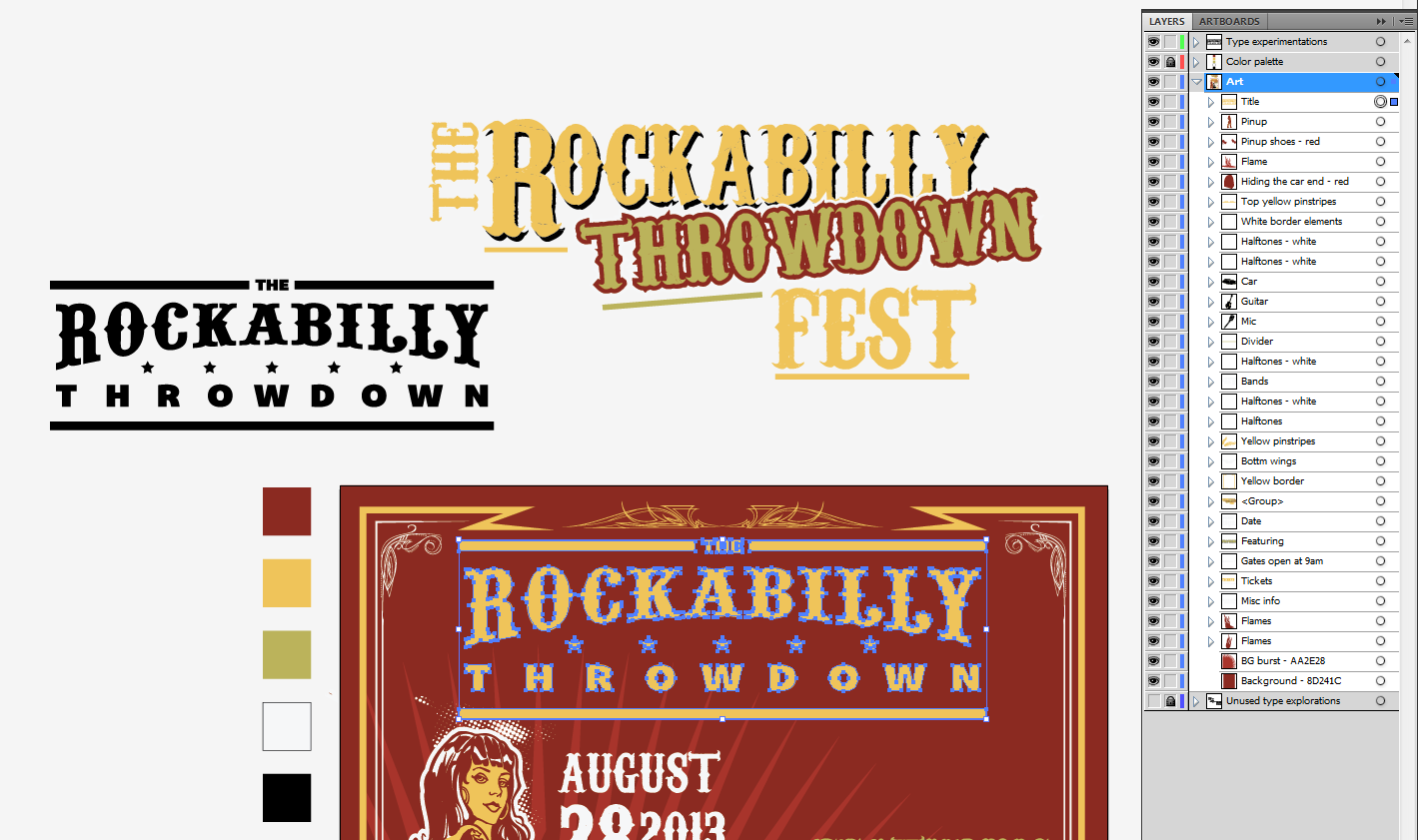 Create an Iconic Rockabilly Poster With Vector Set 22 – Title integration