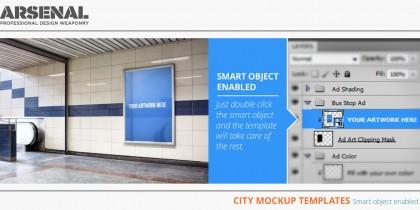The city mockup templates