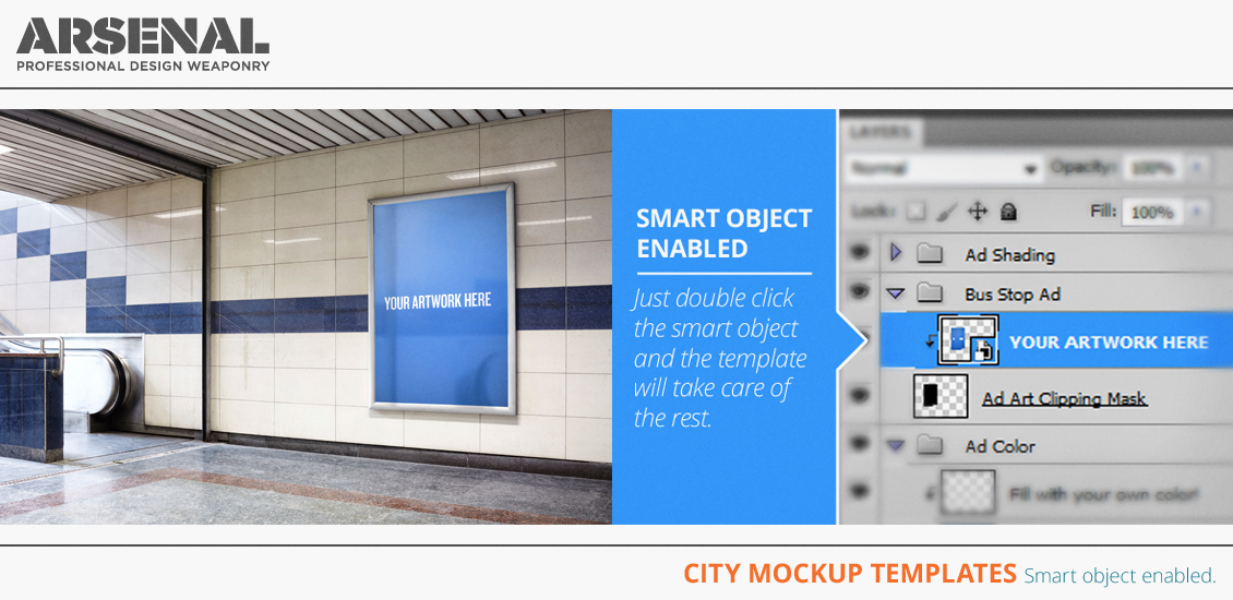 The city mockup templates