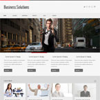 Business Solutions Responsive Site Template: view demo