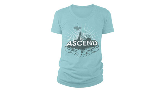 Women's Triblend Track T-Shirt Ghosted Front, Mocked Up!