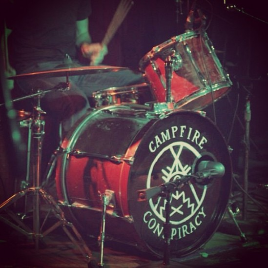 Campfire Conspiracy bass drum