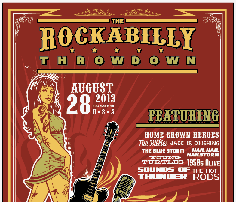 Create an Iconic Rockabilly Poster With Vector Set 22 – Band list