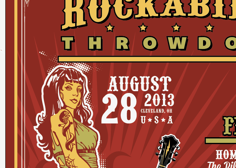 Create an Iconic Rockabilly Poster With Vector Set 22 – Pinup size