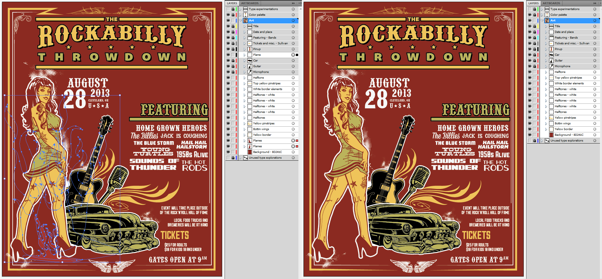 Create an Iconic Rockabilly Poster With Vector Set 22 – Background