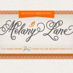 Melany Lane Script Font (full family) – only $17!