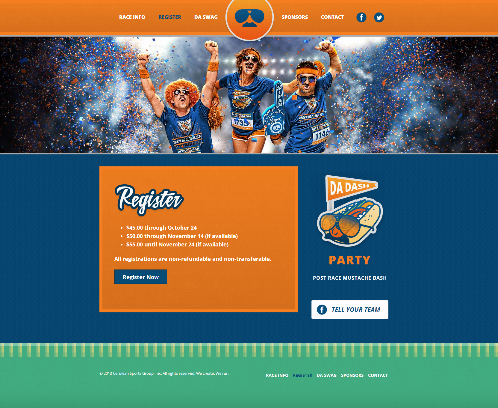 Ditka Dash Responsive Website Design Registration Page
