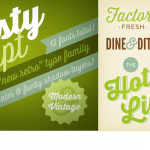 Modern-Yet-Retro Thirsty Script Font Family – only $9!