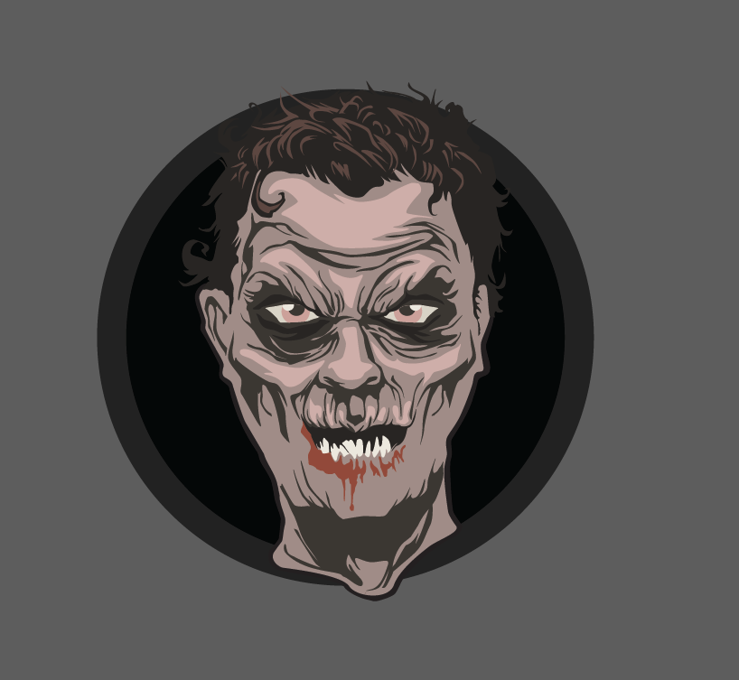 Let's make an horror movie poster with vector set 23 - Preparing the portrait - Adding the outline