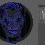 Let's make an horror movie poster with vector set 23 - Preparing the portrait - Grouping the head back together