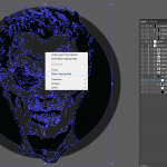 Let's make an horror movie poster with vector set 23 - Preparing the portrait - Preparing the clipping mask