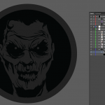 Let's make an horror movie poster with vector set 23 - Preparing the portrait - Portrait with the clipping mask