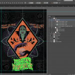 Let's make an horror movie poster with vector set 23 - Main title