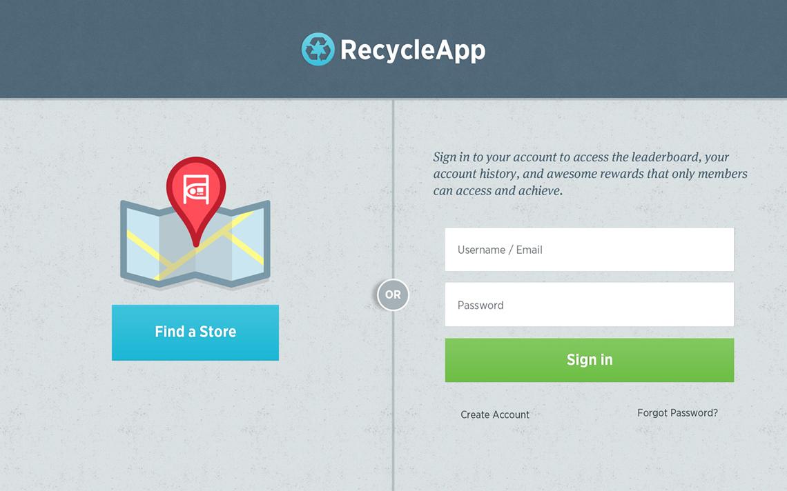 Tomra App Design RecycleApp