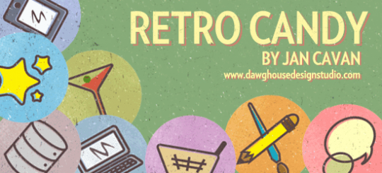 Retro Candy: Free Icon Set by Jan Cavan seen on Six Revisions