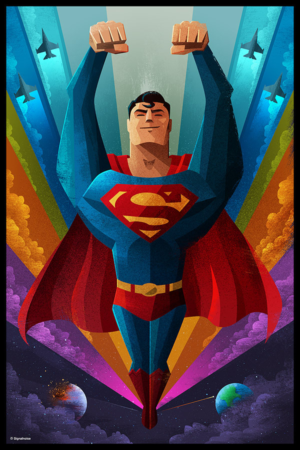 Superman poster by James White