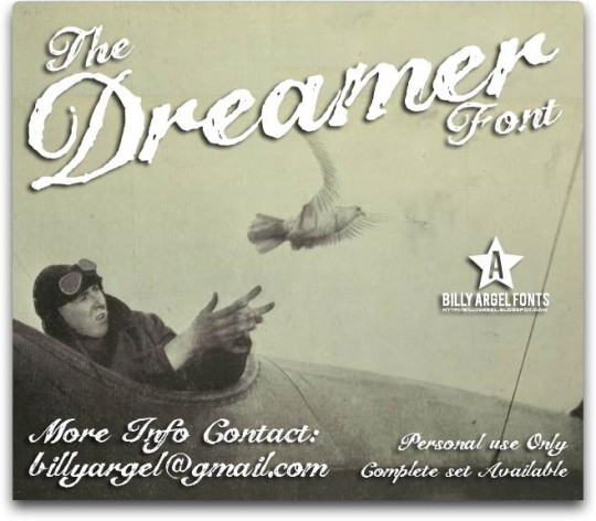 The Dreamer by Billy Argel on Font Space