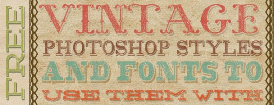 Retro Vintage Layer Styles on Creative Market