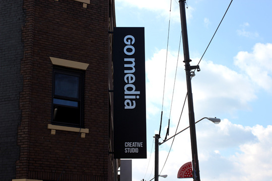 Our storefront renovation is almost entirely complete. Check out our newest addition: the official Go Media signage!
