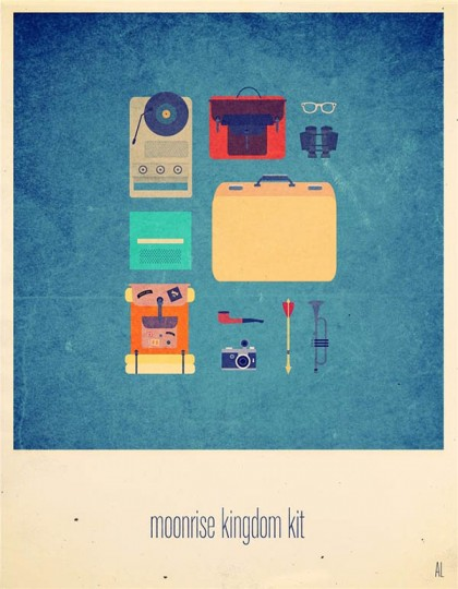 Moonrise Kingdom poster by Alizée Lafon