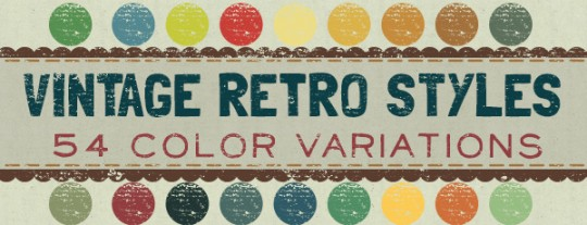 Vintage Retro Styles on Creative Market