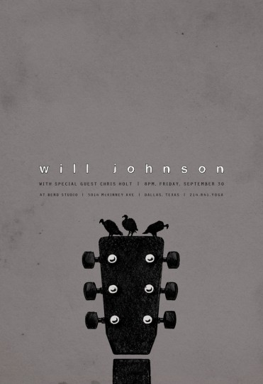 Will Johnson poster by Robert Lin