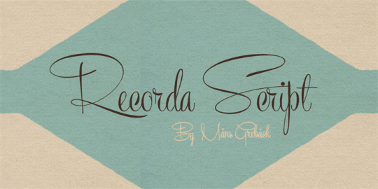 Recorda Script by Måns Grebäck seen on Font Space