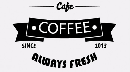 Vintage Coffee Shop Logo Vintage Banner Coffee Shop on