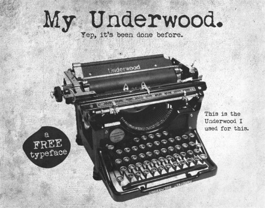 My Underwood by Tension Type on Font Space