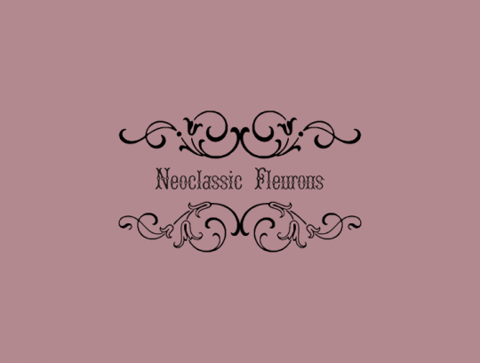 Neoclassic Fleurons by Intellecta Design seen on Font Space