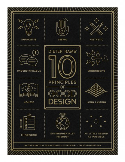 10 principles of good design poster by gerren lamson - Poster Design Ideas