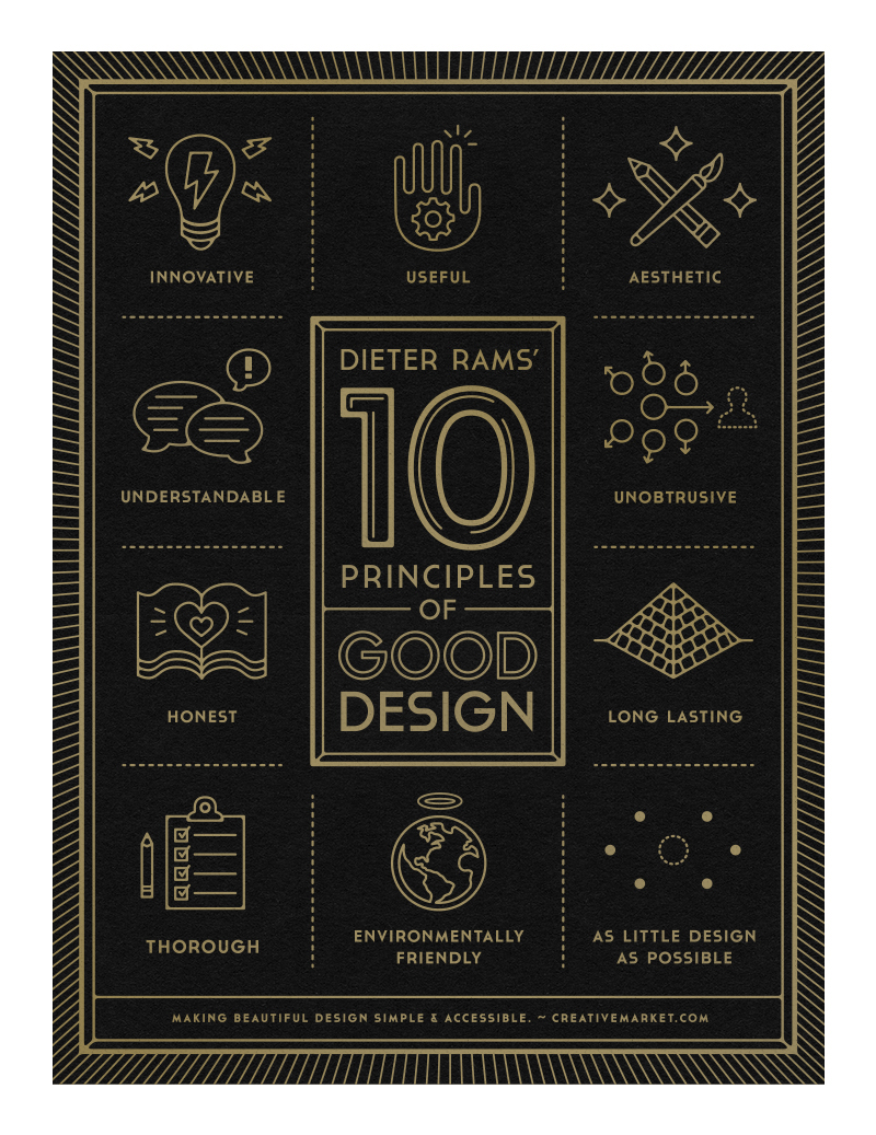 10 Principles of Good Design poster by Gerren Lamson