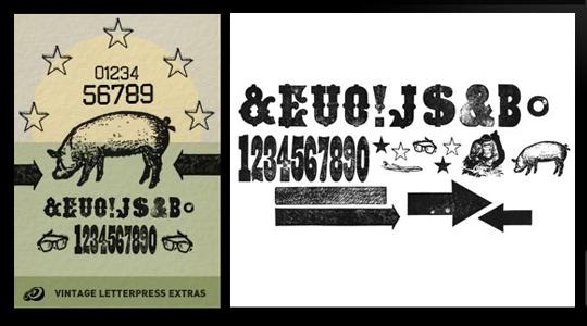 Vintage Letterpress Texture Pack Extras