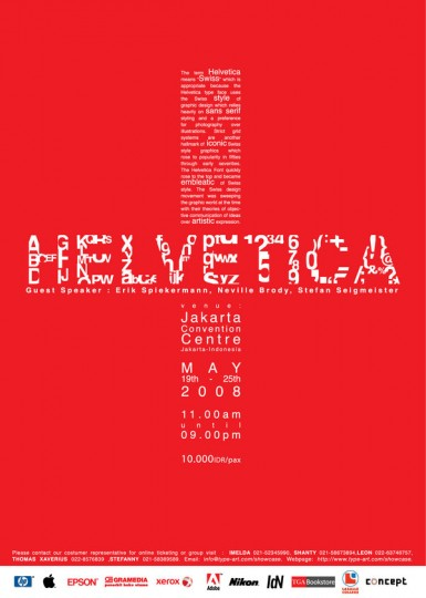 Helvetica Poster by William Xu