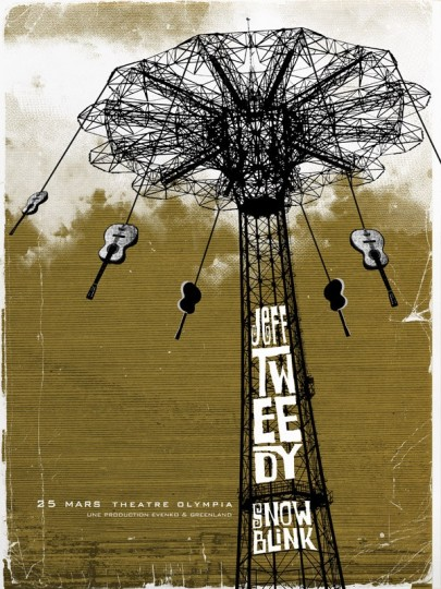 Jeff Tweedy Three Color Screen Print by Path Poster Designs