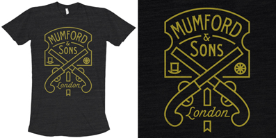 Mumford & Sons Pistol Label Tee | Brandon Rike