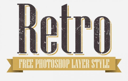 Photoshop Retro Layer Style by Aurove Design Studio