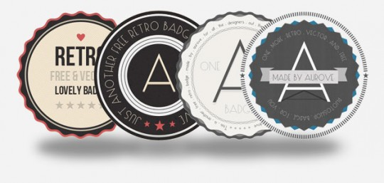 Retro Badges by Aurove Design Studio