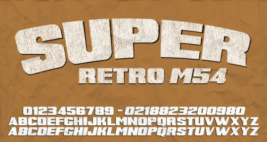 Super Retro seen on dafont.com